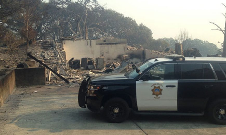 SCPD Assists with Northern Wine Country Wildfires