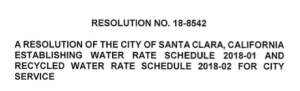 Water Rates For Santa Clara