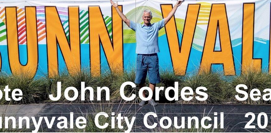Sunnyvale City Council Seat #3 Candidate: John Cordes