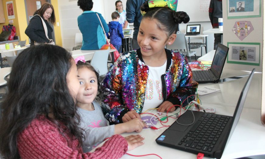 Mission College and SCUSD teamed up for the first STEAM Expo. Students from the district created projects like a drawing of the Golden Gate Bridge.