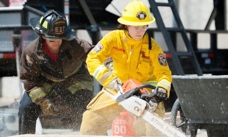 NorCal First Alarm Girls Fire Camp, NorCal First Alarm Girls Fire Camp firefighting training Santa Clara Fire Training Facility