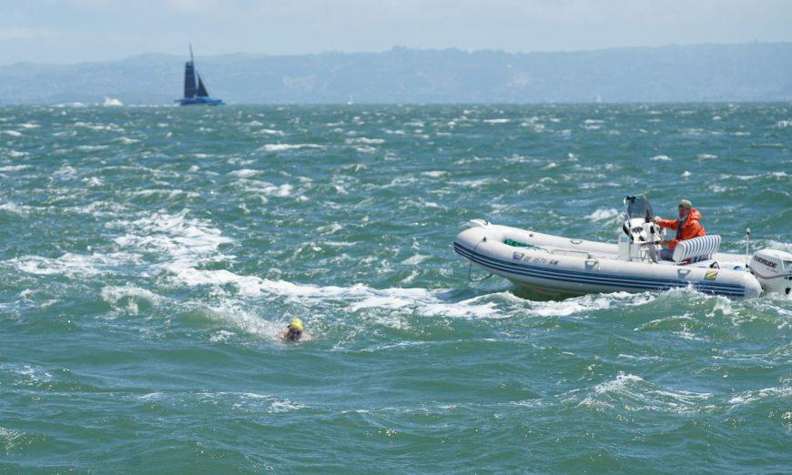 marathon swimmer Ken Mignosa Golden Gate Bridge Dumbarton Bridge