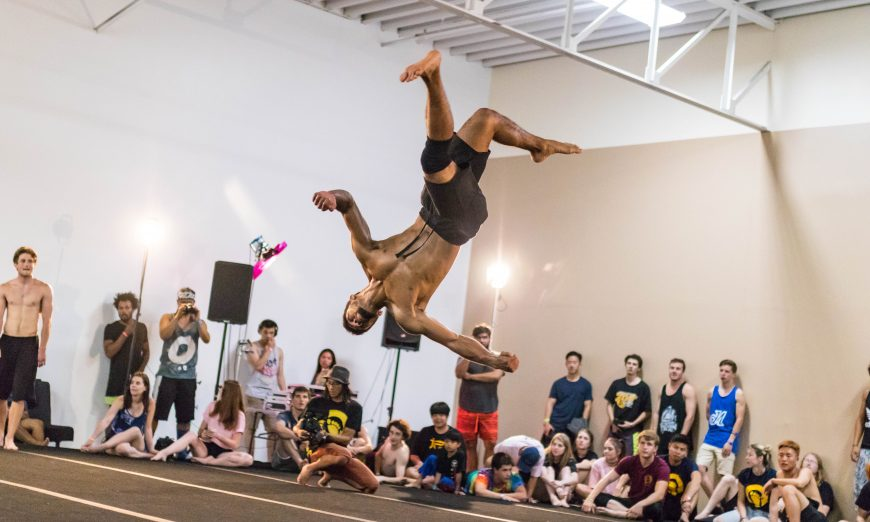Loopkicks in Santa Clara is a home for the tricking community. Tricking instructor Mark Rusmantijo describes the new sport.