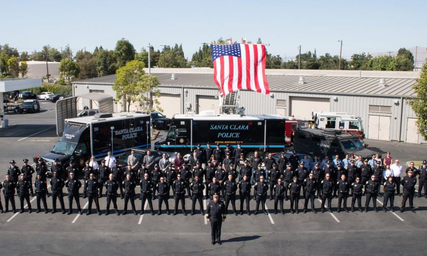 The Police Department have a Final Salute honoring Santa Clara Police Chief Mike Sellers. Sellers retires after 40 years of service later this week.