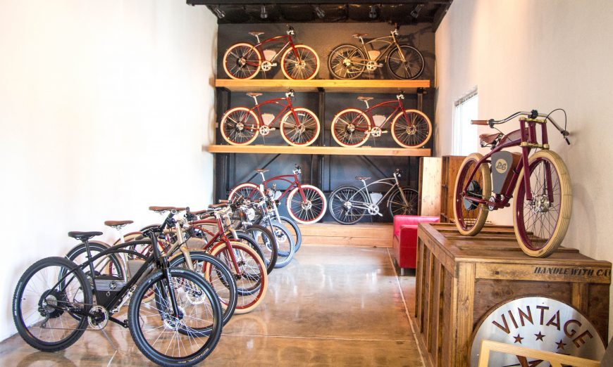 Vintage Electric in Santa Clara makes manual-electric hybrids and fully electric bicycles. Founder Andrew Davidge and his team explain how they got here.
