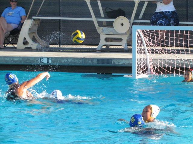 The Santa Clara Bruins girls water polo team beat the Milpitas Trojans on Tuesday. Bruins players Niya Bumbaca and Medhya Sundher played well.