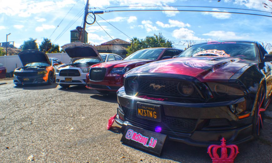 The Muscle Queen Car Club Next held a car event to help raise funds for the Door Solutions to Domestic Violence at their headquarters.