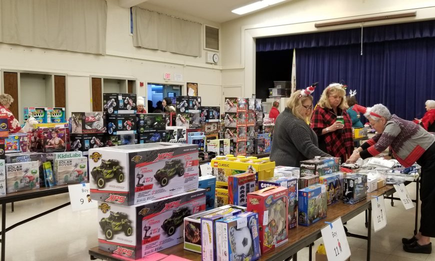 The ladies of Soroptimist International of Santa Clara Silicon Valley gave back to the community through the annual gift giving event.