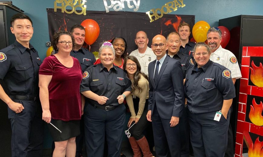Sunnyvale Department of Public Safety's Civilian Fire Marshal Lynne Kilpatrick has retired. She now lives and works in Washington.