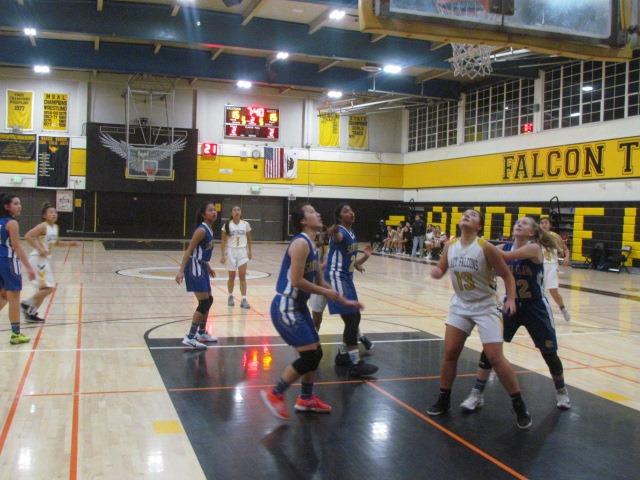 Santa Clara Burins' basketball star, Annie Liu, talks about keeping her cool as her team plays their first non-league game.