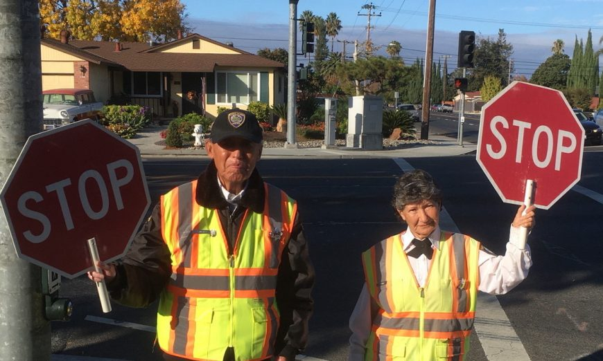 Joaquin and Hermelinda Murillo were recognized by the Santa Clara Police Department for their years of being Crossing Guards.