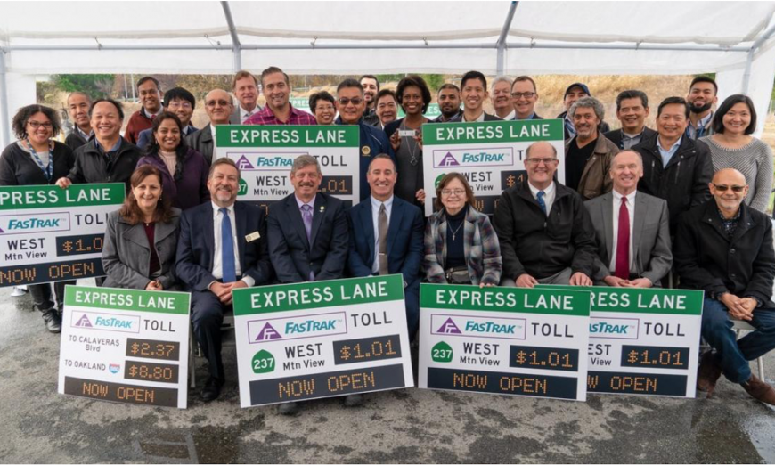 The SR 237 Express Lanes. which run through Sunnyvale, are already giving data showing that they are helping to reduce commute times.