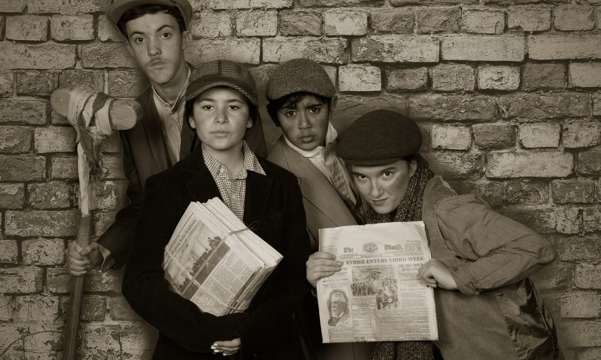 Peninsula Youth Theatre presents Disney's Newsies in March. Meg Fischer Venuti directs the show of talented young actors.