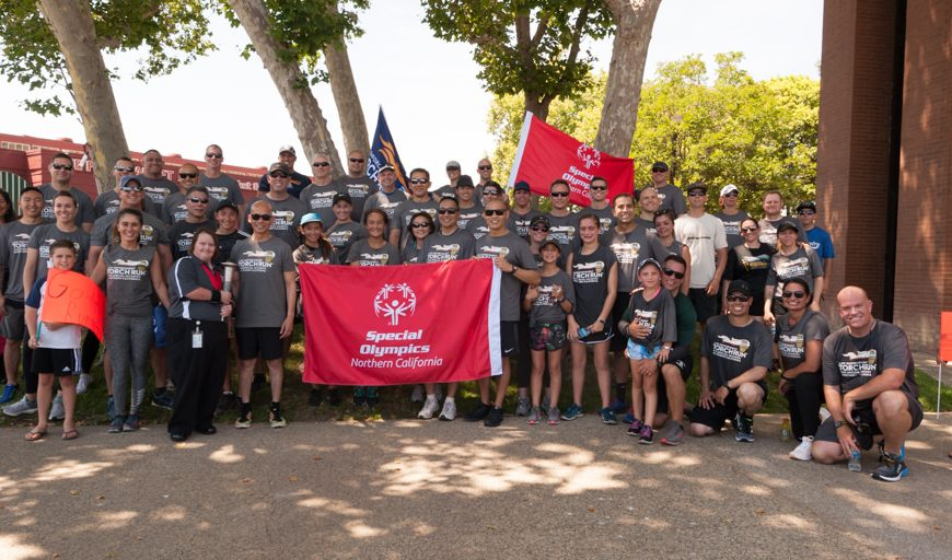 SCPD was named #1 Fundraising Police Department for the Law Enforcement Torch Run for Special Olympics Northern California.