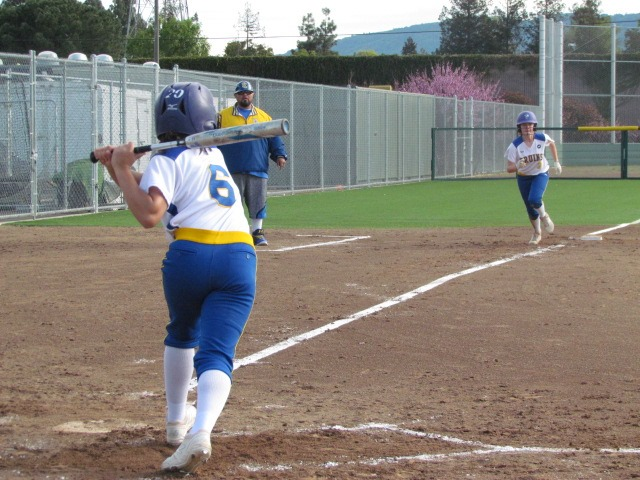 The stand-outs in the Santa Clara Bruins Softball game were Abigail Klahold Vanessa Calvillo. They did great work for their team.