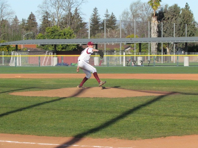 Dylan Gray, a senior at Fremont High School in Sunnyvale, is the pitcher for their baseball team. He is always cool under pressure.