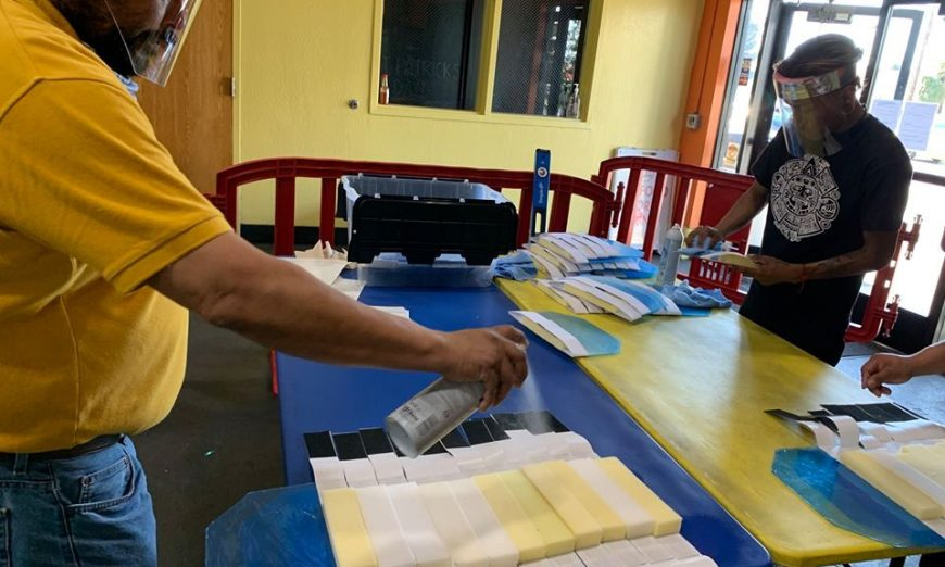 Santa Clara Community Crisis Coalition is helping make face shields for healthcare workers and they're employing people who need work.