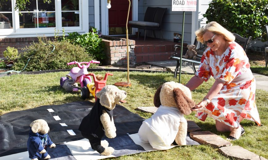 Lesley McGuigan is the talk of Hilmar Street. Her Lawn displays called featuring the Hilmar Hounds are bringing joy to her street.