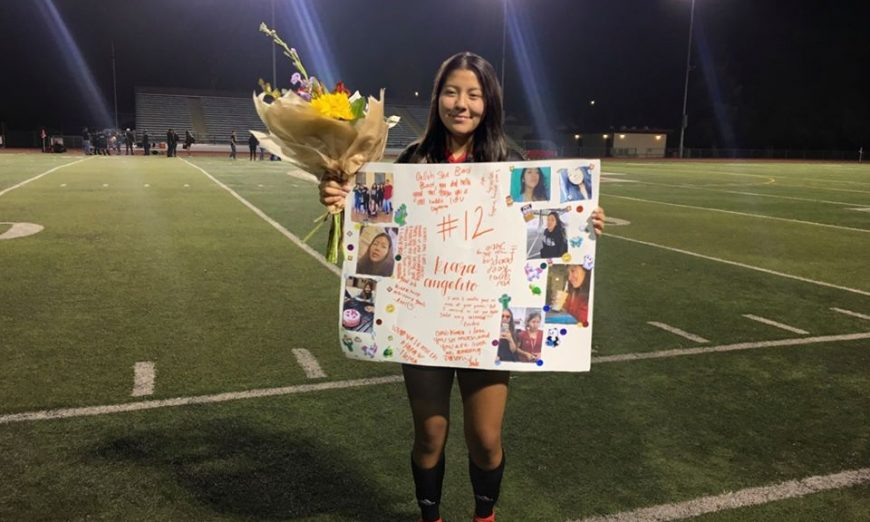Fremont High School Senior Kiara Angelito reflects on her high school soccer career. She will not play a high school soccer game again.