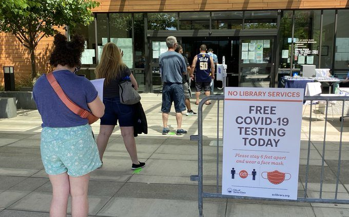 The City of Santa Clara and the County of Santa Clara are offering Free COVID-19 Testing at Northside Branch Library, Tuesday through Friday.