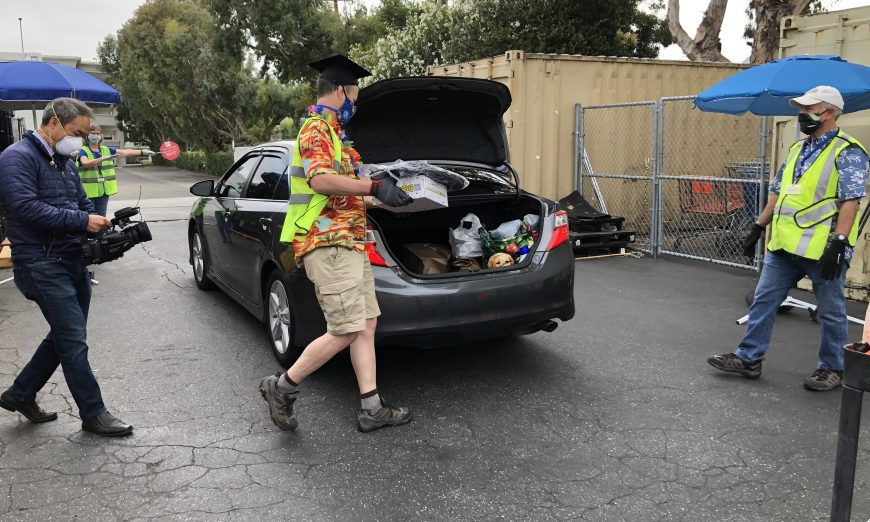 Sunnyvale Community Services still held their annual backpack pick-up where students can get a backpack and school supplies.