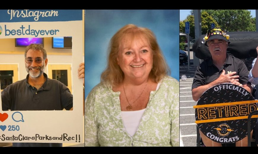 SCUSD honored retiring employees during their Employee Recognitions. Stan Garber, Beth Dericco, and John Aguiar were honored.