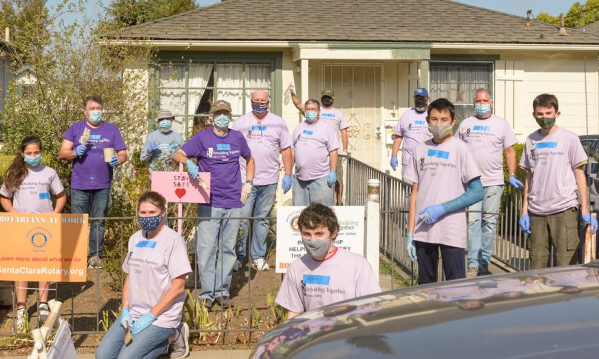 Rebuilding Together Silicon Valley partnered with the local Santa Clara Rotarian Club to help out a local homeowner and paint her house.