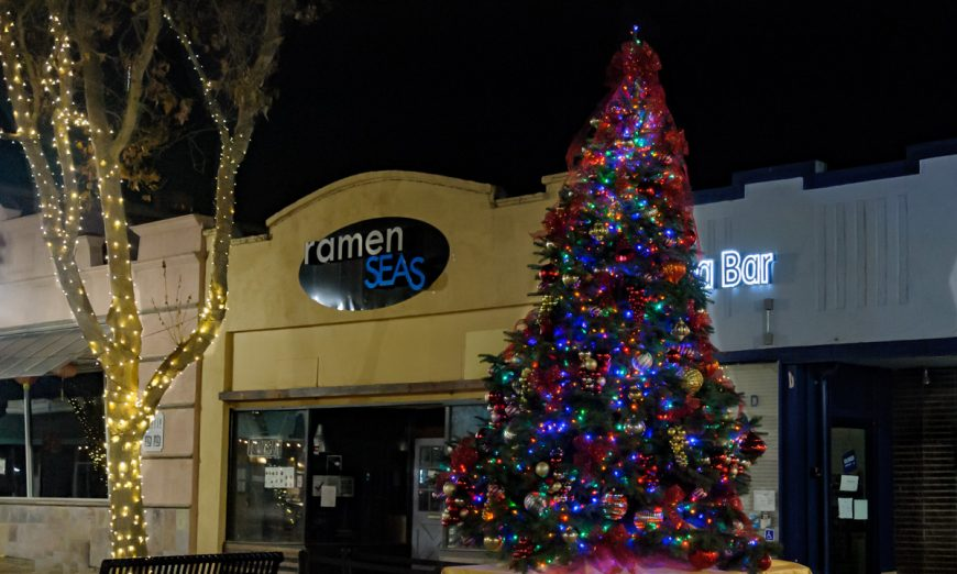 Tree Lighting events were canceled in Santa Clara and Sunnyvale but the holiday spirit is still alive. The trees are lit and on display.