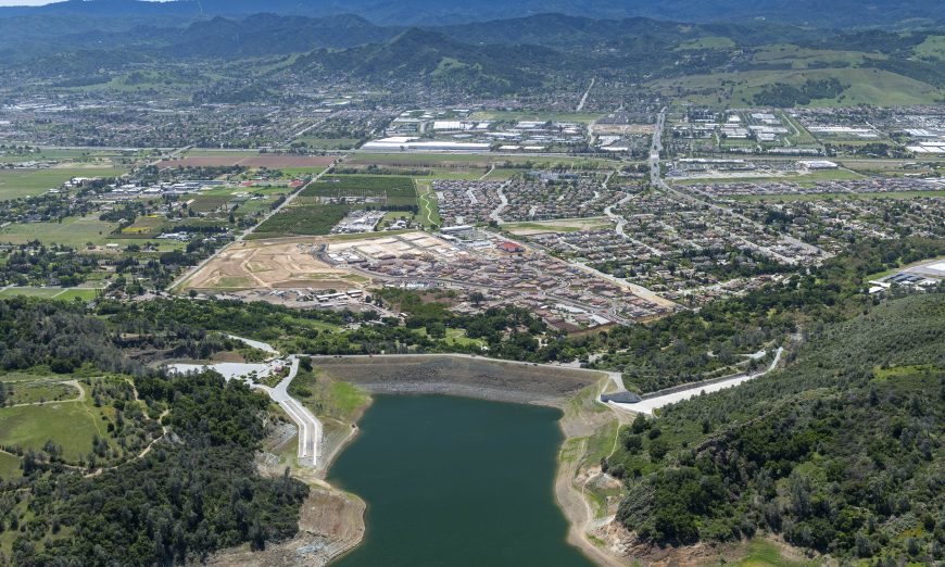 Santa Clara Valley Water District has been lowering the water level on the Anderson Dam to avoid flooding in the event of a major earthquake.