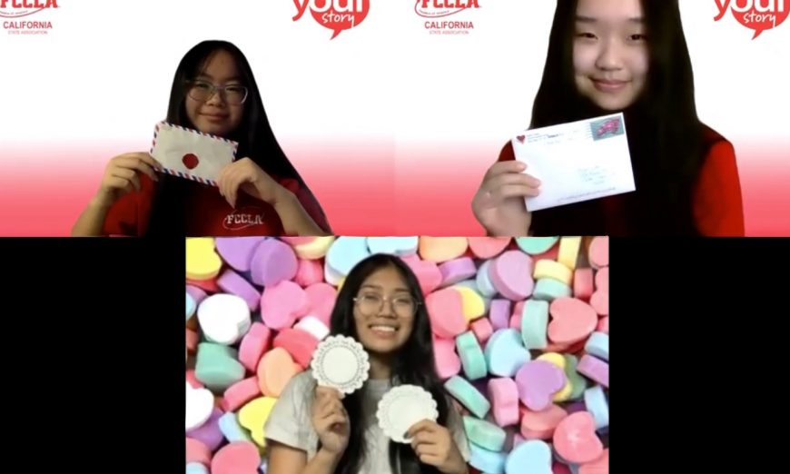 Santa Clara High School's FCCLA worked together to create crafts and write letters for Valentine's Day. They're sent to Brookdale Senior Living in San Jose.