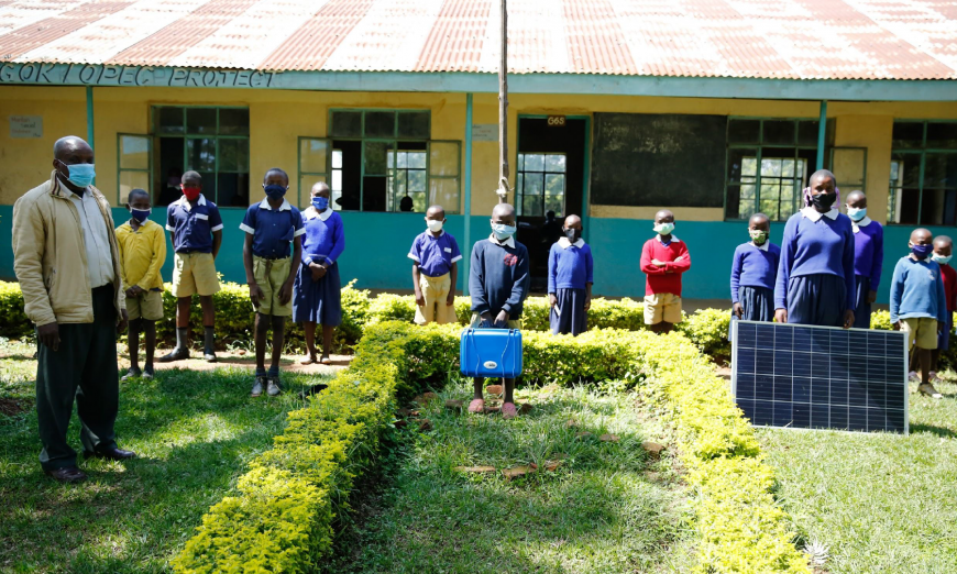 Students in Mission College's Summer STEM program built solar suitcases. Some of the suitcases have made their way to schools in Kenya.