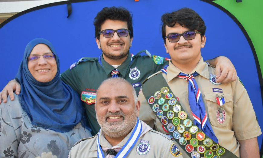 Boy Scouts of America honored Hassnain Malik, a Santa Clara man, with the Silver Beaver Award. He and his sons are active in scouting.