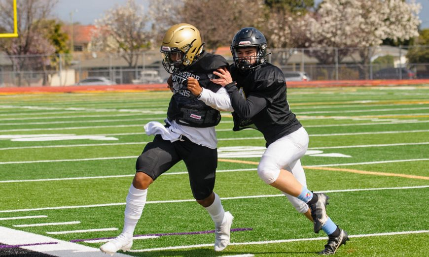 The Wilcox football team informally scrimmaged against the Archbishop Mitty Monarchs. The scrimmage was the first play time they've had in over a year.