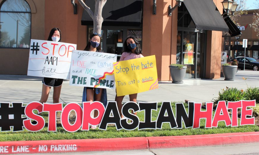 Rivermark neighborhood held a #StopAsianHate Rally in light of a racist event towards a Asian American and Pacific Islander community girl.