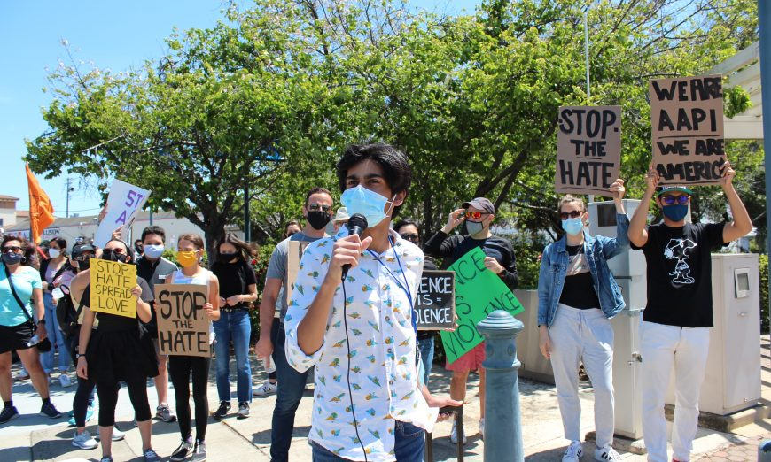 Young Activists put together Stop Asian Hate march in Santa Clara. Harbir Bhatia helped bring the march together.