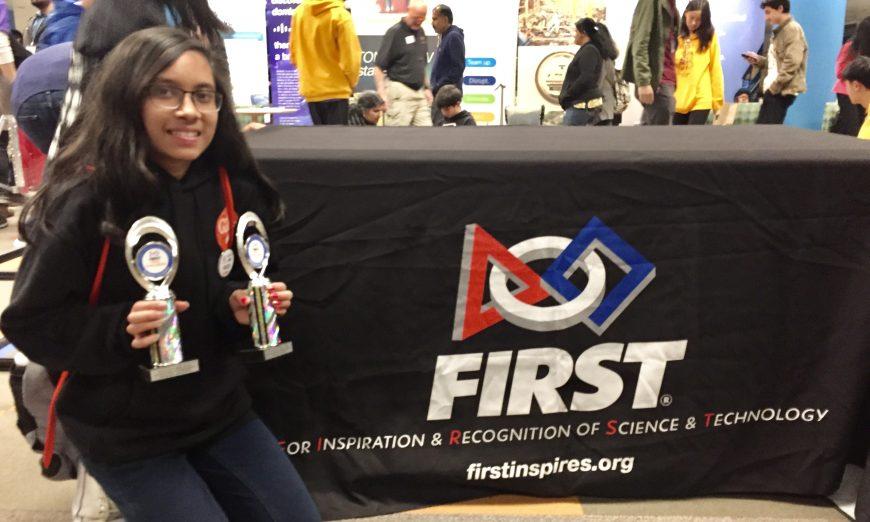 Santa Clara High School student, Rhea Jain, received the President's Volunteer Service Award. The junior volunteers in her free time.