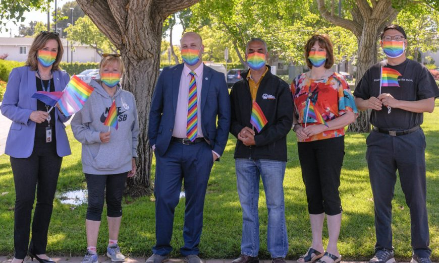 City leaders celebrated Santa Clara Pride with a Rainbow flag raising. They remembered the LGBTQIA+ people who started Pride at Stonewall.