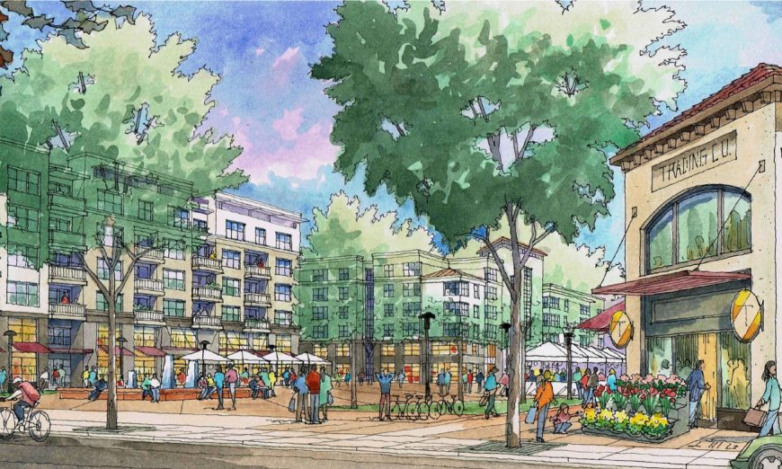 The El Camino Real Specific Plan reviews development and considers bicyclists and pedestrians as well as retail and housing.