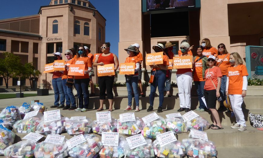 The local chapter for Moms Demand Action for Gun Sense in America held a march to bring awareness to gun violence.