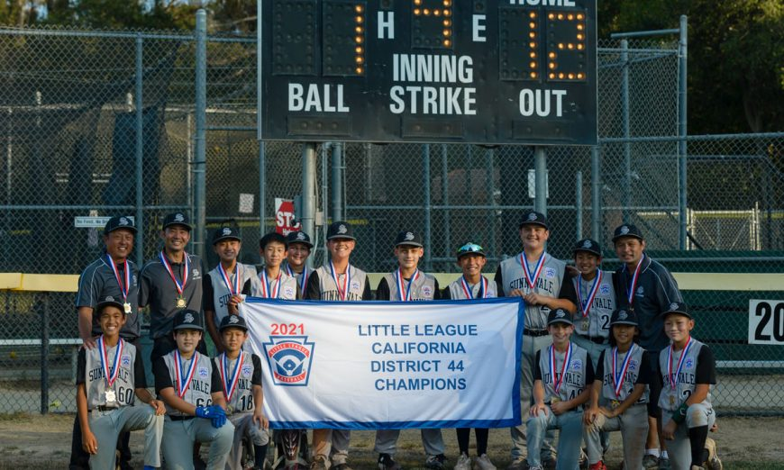 The Sunnyvale 12U All Stars have won the District 44 Championship against Campbell. Lucas Gandara and Luke Canabou played well.