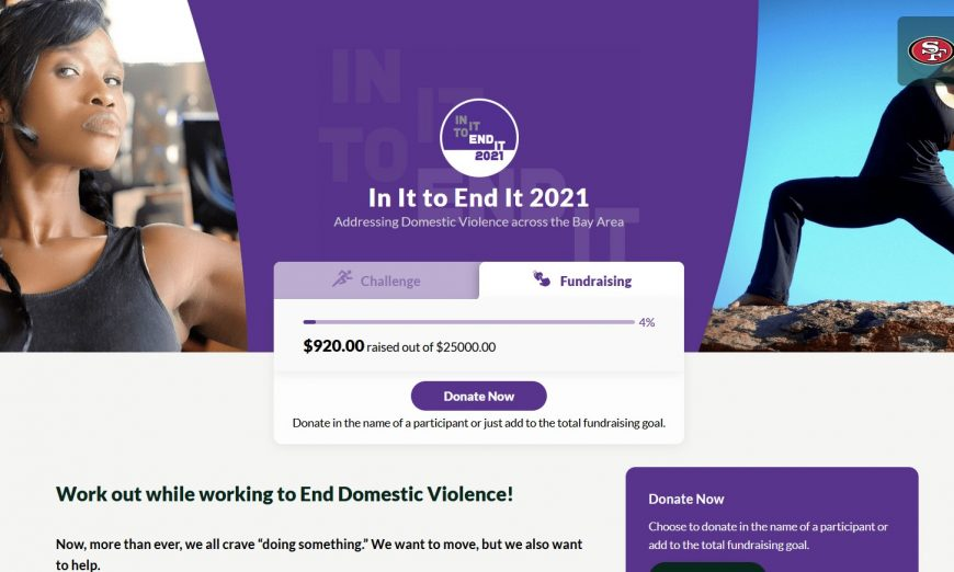 Non-profits are teaming up with San Francisco 49ers and Blue Shield of California for In It To End It in hopes to address Domestic Violence.