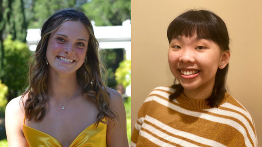 Cindy Vo and Amanda McDowell were honored with scholarships from Silicon Valley Power, Santa Clara's power.