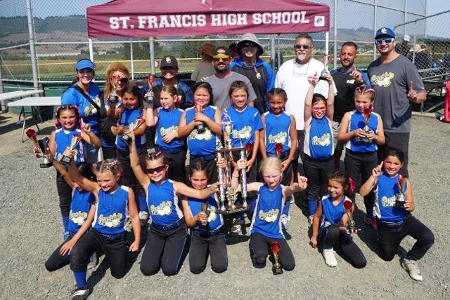 The Santa Clara Sparks 8U travel team won their championship game in Watsonville. Kyleigh Bertron, Maya Ghazanfari, and the team played well.
