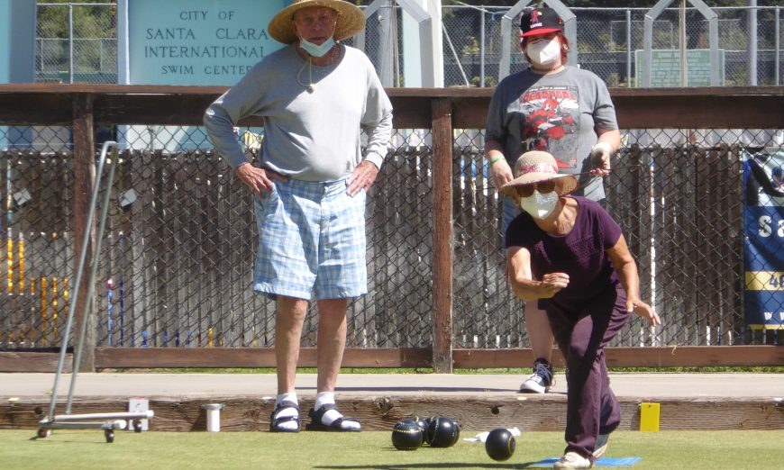 Santa Clara Lawn Bowls Club offers some friendly competition for folks of all ages. Lawn Bowling is kind of like golf.