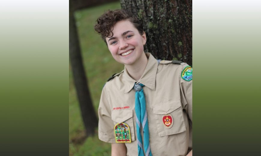 Ben Caldwell has earned the rank of Eagle in the local Scouts BSA Troop 394. Last year, he helped make masks during the COVID-19 pandemic.