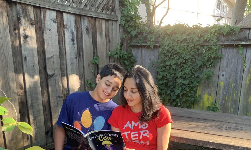Garima Agarwal wrote Introduction to Biology: Cells. She was looking for a way to get kinds into biology and genetics.