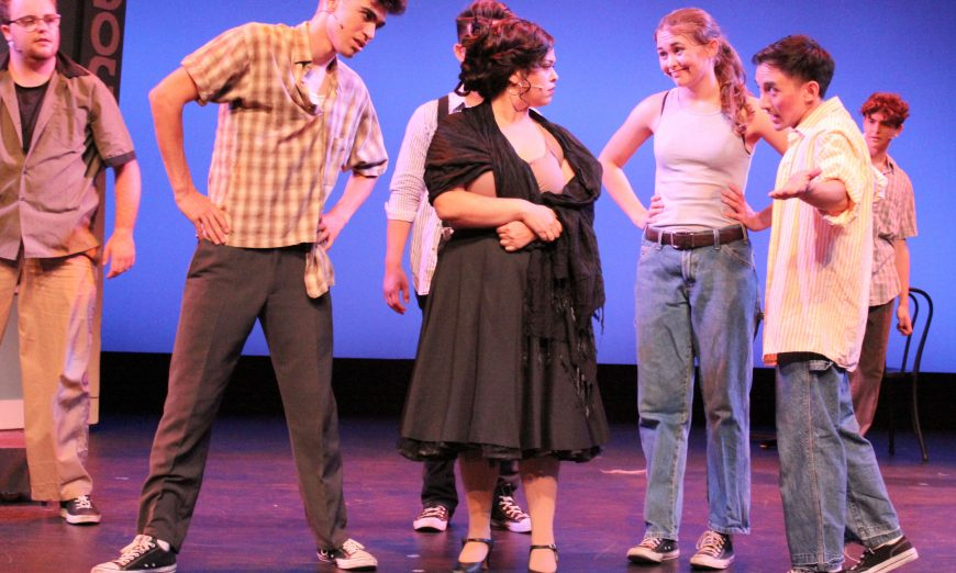 Sunnyvale Community Players had an Intimacy Director on hand while they rehearsed for their West Side Story musical performance.