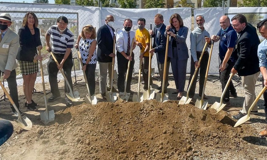 Local leadership celebrate Agrihood Groundbreaking at the old BAREC site. CORE Companies will be behind the project.